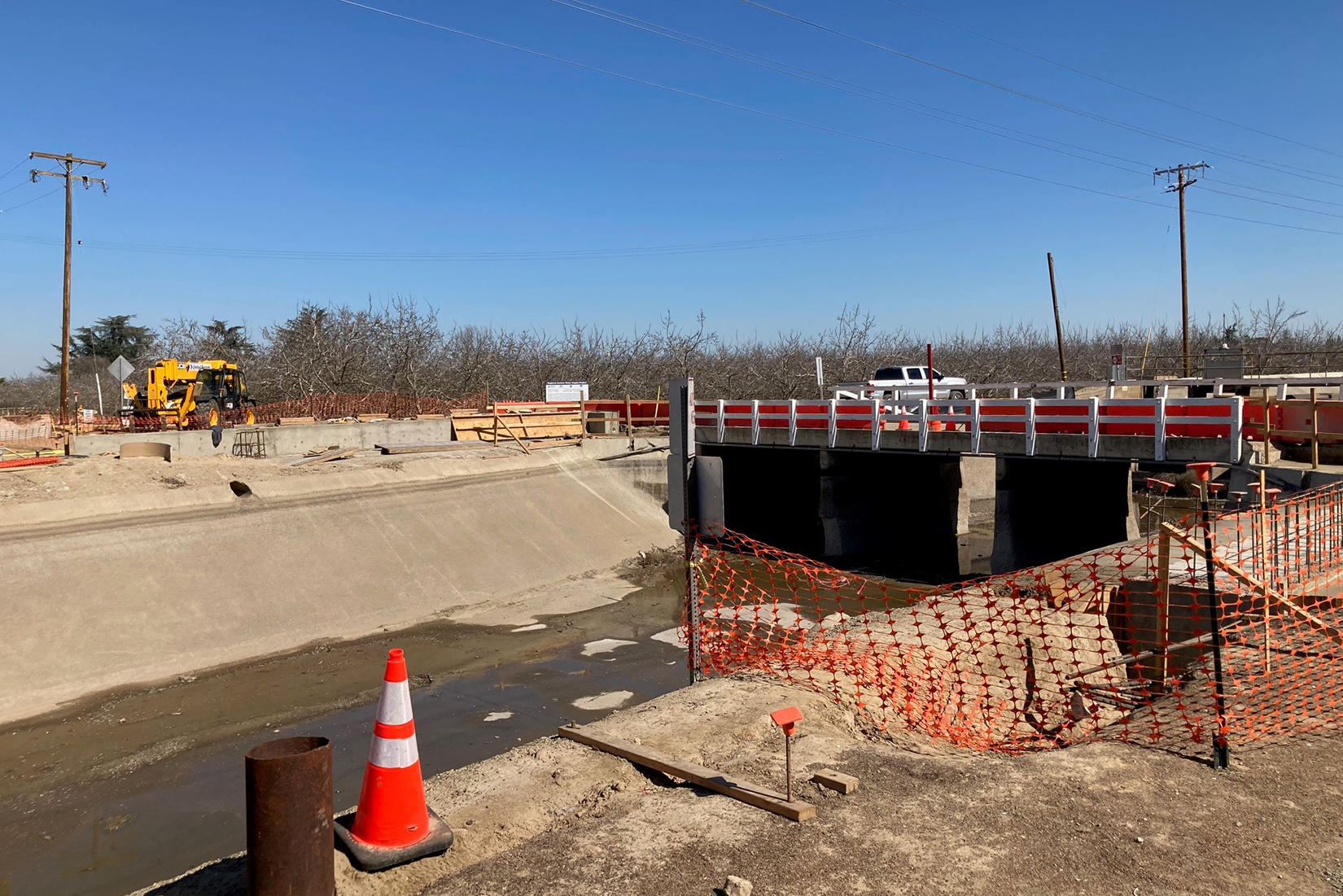 Work is under way at the Aldrich Road Bridge Replacement Project
