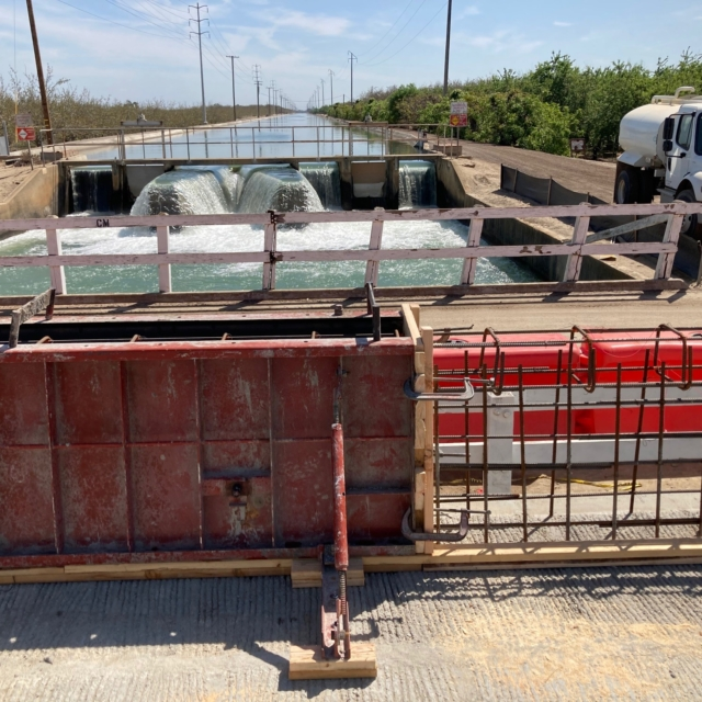 Forms for for the concrete barriers on the Aldrich Rd bridge