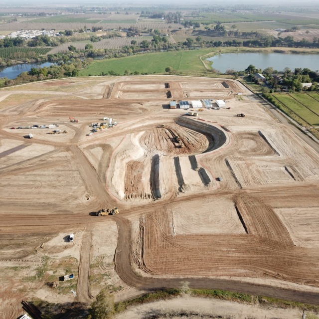 Aerial image of work at the Water Treatment Plant