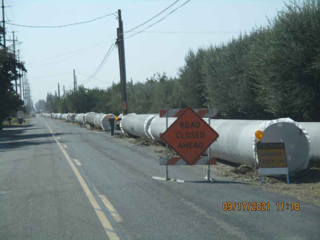 Pipe along Berkeley Road