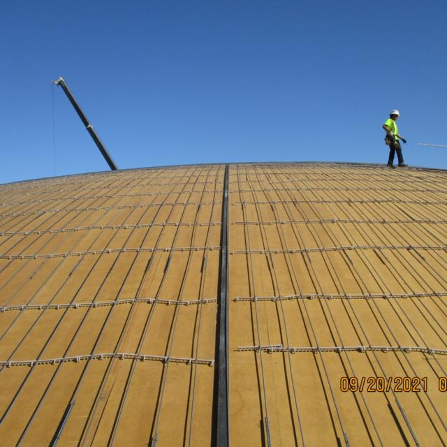 Water storage tank dome reinforcement