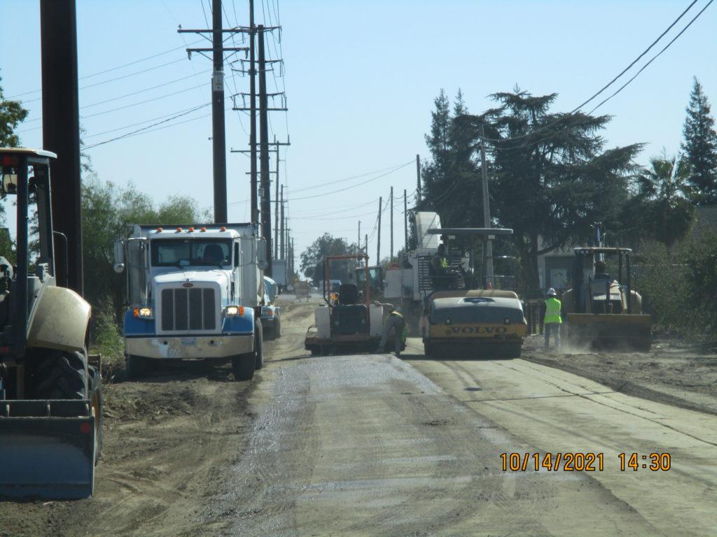 Prep work for paving on Berkeley.