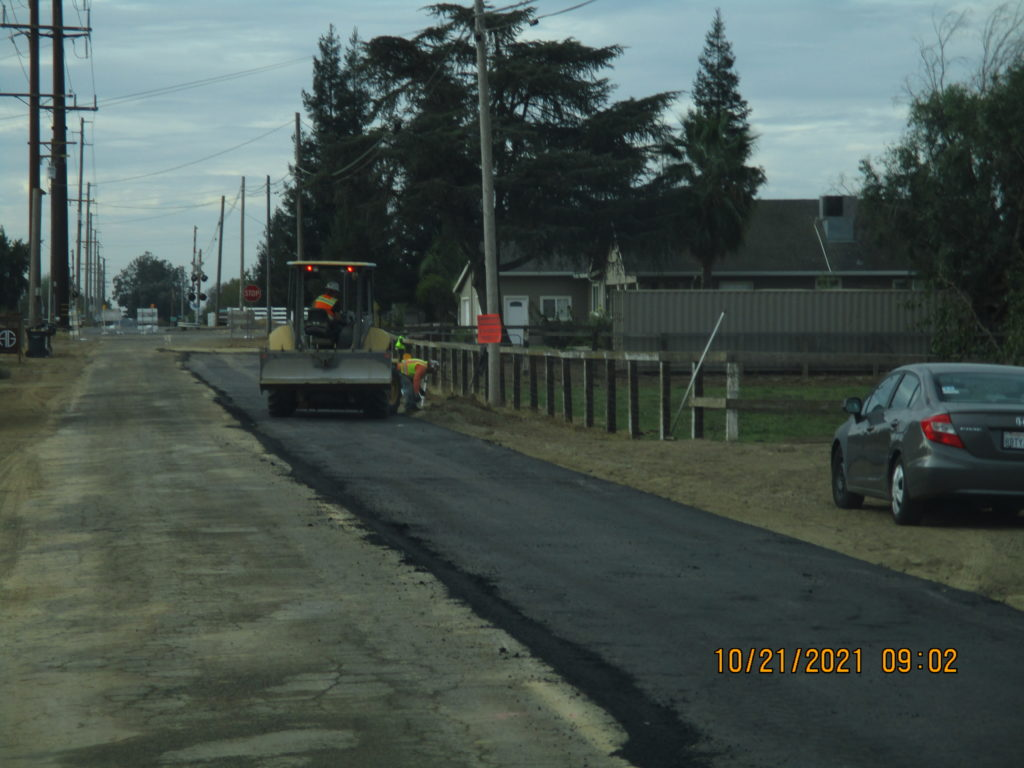 Paving Berkeley road.