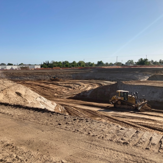 Mass excavation at the Water Treatment Plant site