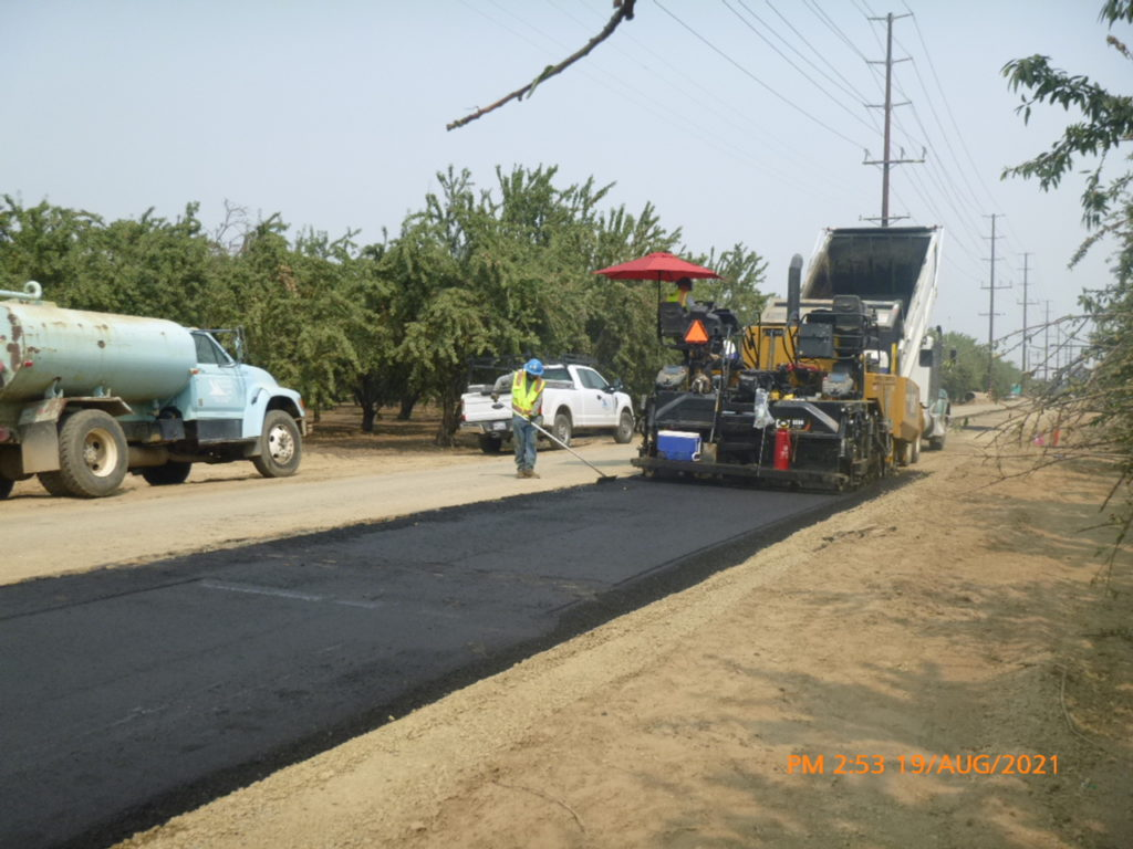 Aggregate base is currently being placed on Berkeley Road north of Whitmore Road.