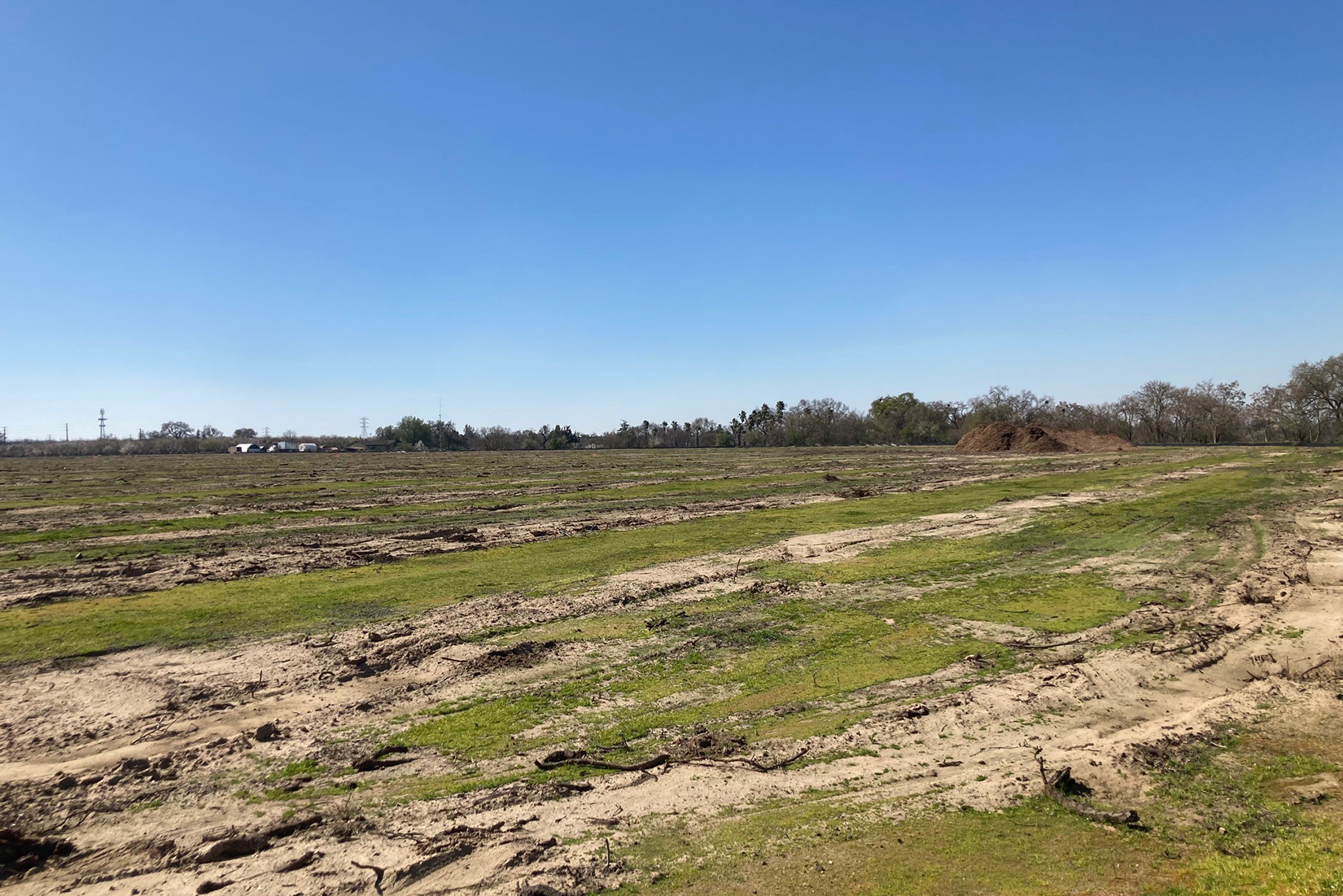 Site clearing is underway at the Water Treatment Plant site