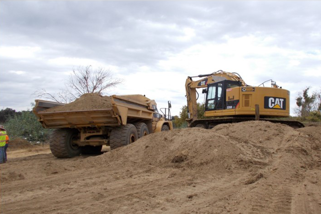 Site Excavation; Benching Activities form Elevation 78 ft to 72 ft