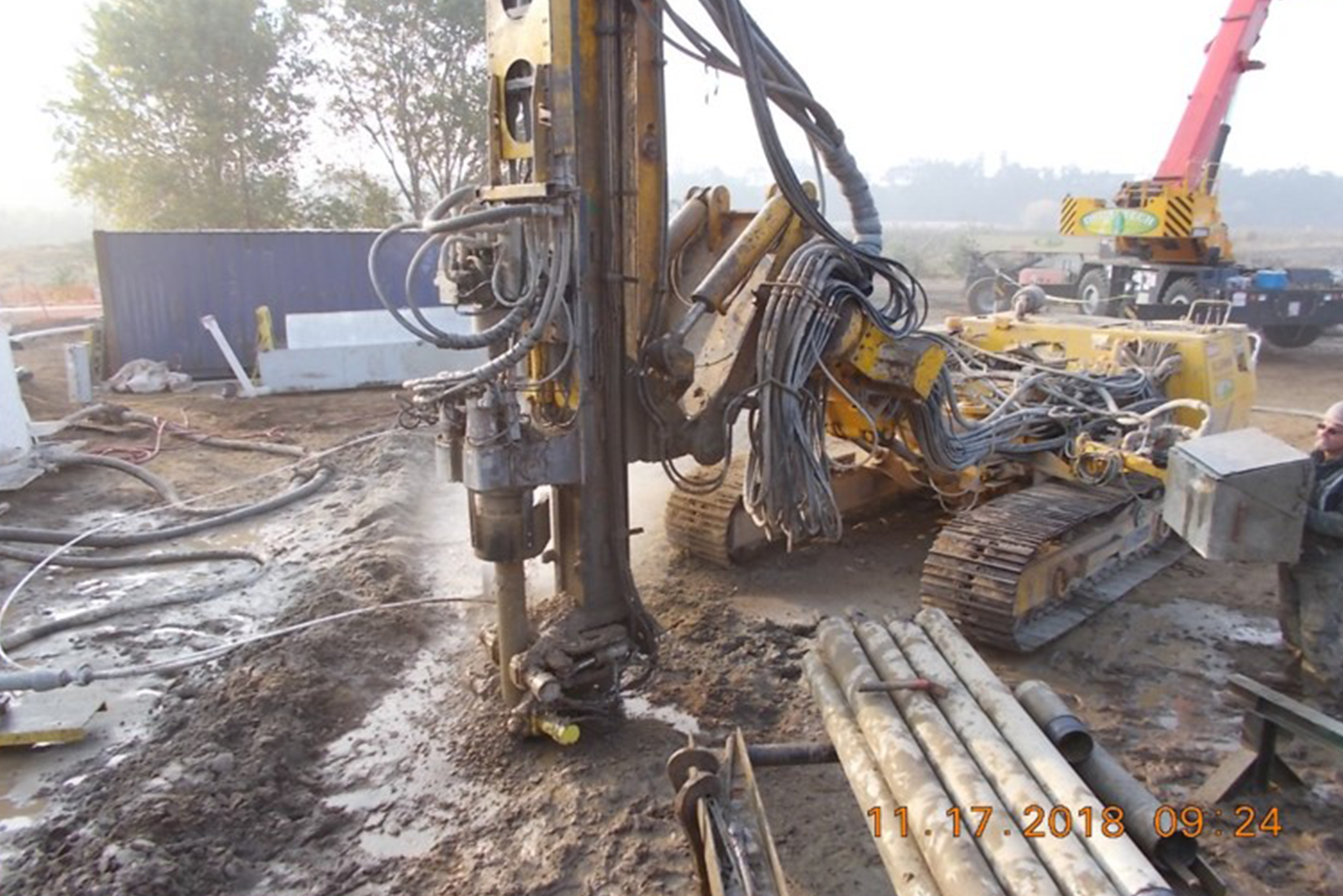 Borehole Drilling for Freeze Pipe Installation